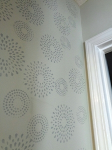 Far wall stencil